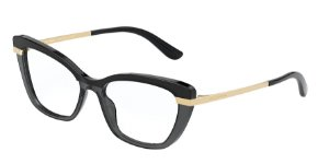 Dolce & Gabbana DG3325 Top Black On Transparent Black