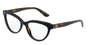 Dolce & Gabbana DG3332 Top Black On Havana