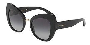 Dolce & Gabbana DG4319 Black Lentes Grey Gradient