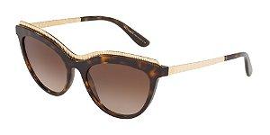 Dolce & Gabbana DG4335 Havana Lentes Brown Gradient