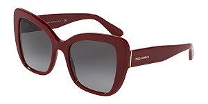 Dolce & Gabbana DG4348 Bordeaux Lentes Grey Gradient