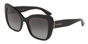 Dolce & Gabbana DG4348 Black Lentes Grey Gradient