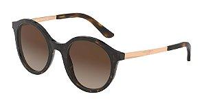 Dolce & Gabbana DG4358 Havana Lentes Brown Gradient