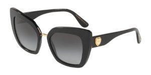 Dolce & Gabbana DG4359 Black Lentes Grey Gradient
