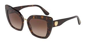 Dolce & Gabbana DG4359 Havana Lentes Brown Gradient