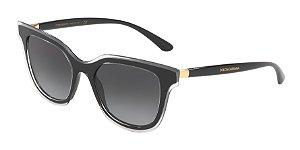 Dolce & Gabbana DG4362 Top Crystal On Black Lentes Grey Gradient