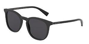 Dolce & Gabbana DG4372 Matte Black Lentes Polar Grey