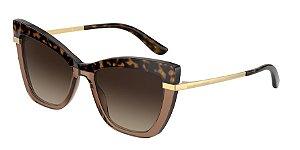 Dolce & Gabbana DG4374 Top Havana On Transp Brown Lentes Brown Gradient