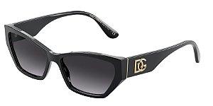 Dolce & Gabbana DG4375 Black Lentes Grey Gradient