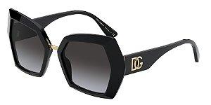 Dolce & Gabbana DG4377 Black Lentes Grey Gradient