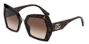 Dolce & Gabbana DG4377 Havana Lentes Brown Gradient