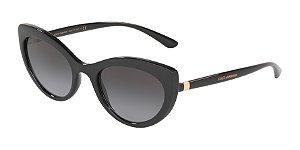 Dolce & Gabbana DG6124 Black Lentes Grey Gradient