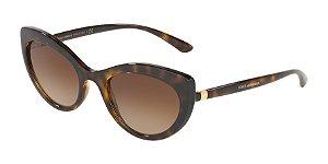 Dolce & Gabbana DG6124 Havana Lentes Brown Gradient