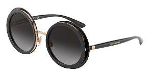 Dolce & Gabbana DG6127 Black Lentes Grey Gradient