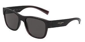 Dolce & Gabbana DG6132 Transparent Grey/Black Lentes Grey