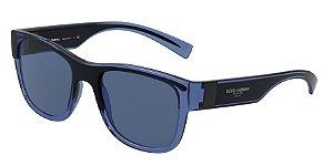 Dolce & Gabbana DG6132 Transparent Blue/Black Lentes Dark Blue