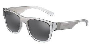 Dolce & Gabbana DG6132 Crystal/Silver Lentes Light Grey Mirror Black