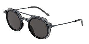Dolce & Gabbana DG6136 Transparent Dark Grey Lentes Grey