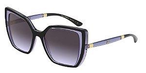 Dolce & Gabbana DG6138 Black On Transp Dark Violet Lentes Light Violet Grad Dark Grey