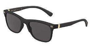 Dolce & Gabbana DG6139 Matte Black Lentes Grey