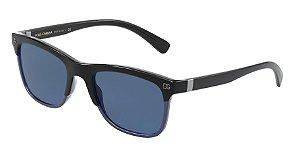 Dolce & Gabbana DG6139 Top Black On Blue Lentes Blue