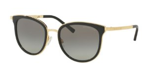 Michael Kors MK1010 ADRIANNA I Black/Gold Lentes Grey Gradient
