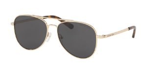 Michael Kors MK1045 SAN DIEGO Shiny Gold Lentes Dark Grey Solid