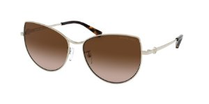 Michael Kors MK1062 LA PAZ Light Gold Lentes Brown Smoke Gradient