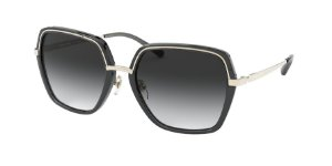 Michael Kors MK1075 NAPLES Light Gold/Black Transparent Lentes Dark Grey Gradient
