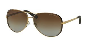 Michael Kors MK5004 CHELSEA Gold/Dk Chocolate Brown Lentes Clear Demo Lens
