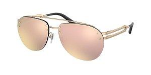 Bvlgari BV5052 Matte Pink Gold Lentes Grey Mirror Rose Gold