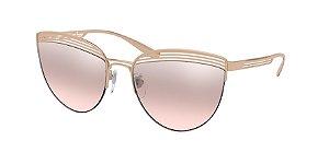 Bvlgari BV6118 Pink Gold Lentes Light Pink Mirror Grad Silver
