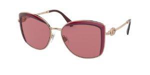 Bvlgari BV6128B Pink Gold/Burgundy Lentes Dark Violet Av