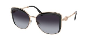 Bvlgari BV6128B Pink Gold/Black Lentes Grey Gradient