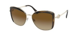 Bvlgari BV6128B Pale Gold/Dark Havana Lentes Polar Brown Gradient
