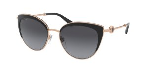 Bvlgari BV6133 Pink Gold/Black Lentes Polar Grey Gradient
