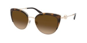 Bvlgari BV6133 Pale Gold/Dark Havana Lentes Brown Gradient