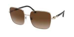 Bvlgari BV6134 Pale Gold Lentes Brown Gradient