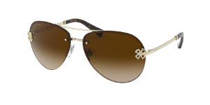 Bvlgari BV6137B Pale Gold Lentes Brown Gradient