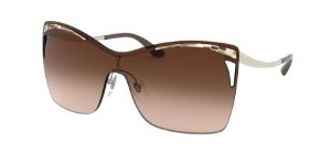 Bvlgari BV6138 Pale Gold Lentes Brown Gradient