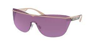 Bvlgari BV6139 Pink Gold/Black Lentes Violet Internal Mirror Silver