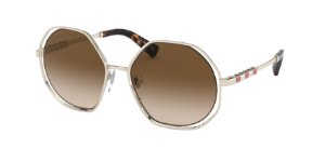 Bvlgari BV6144KB Pale Gold Plated Lentes Brown Gradient