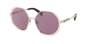 Bvlgari BV6144KB Pink Gold Plated Lentes Violet Internal Mirror Silver