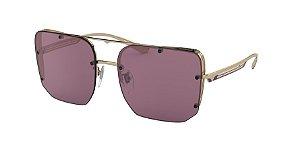 Bvlgari BV6146 Pink  Gold Lentes Violet Internal Mirror Silver