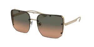 Bvlgari BV6146 Pale Gold Lentes Orange Gradient Light Grey