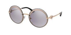 Bvlgari BV6149B Pink Gold Lentes Violet Mirror Gradient Silver