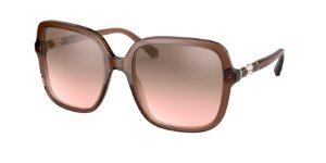 Bvlgari BV8228B Transparent Brown Lentes Light Pink Mirror Grad Silver