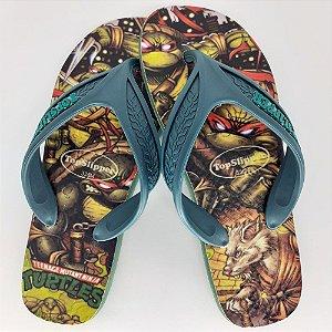 Chinelo Estampado Tartarugas Ninja Tira Larga