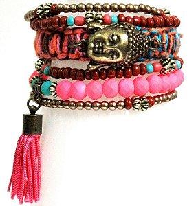 Mix de pulseiras coloridas