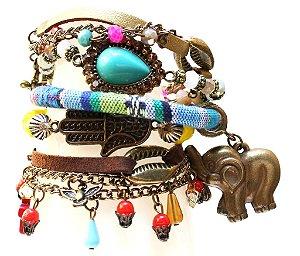 Mix de pulseiras elefante